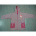 Yj-1142 Pink Summer Hiking Thin Rain Jacket for Toddler Girls with Hood