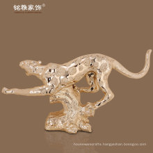 indoor decorative resin leopoard figure high quality animal figurine