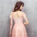 2017 rosa farbe eine schulter abendkleid A-line bodenlangen preis hochzeitskleid