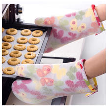 Kitchen Oven Pot Holder Sarung tangan Cotton Silicone Baking