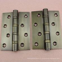 """Prix de gros 4 """"X3"""" SUS304 porte roulement à billes butt charnière pour porte en bois"""