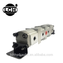 6 sections gear flow dividers with 6 sections hydraulic flow dividers