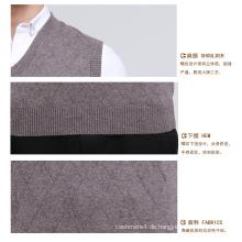 Yak Wolle / Kaschmir V-Ausschnitt Pullover Weste / Kleidung / Strickwaren / Garment