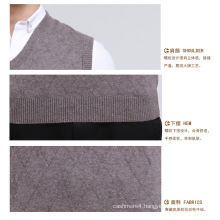 Yak Wool/Cashmere V Neck Pullover Waistcoat/Clothes/Knitwear/Garment