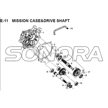 E-11 MISSION CASE DRIVE SHAFT JET 14 XS175T-2 Per SYM Spare Part Top Quality