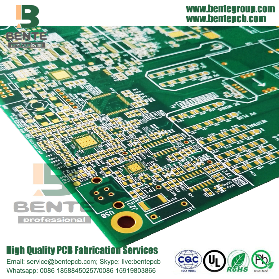 Multilayer PCB 6 livelli PCB 1.6mm ± 0.1mm FR4 Tg170 ENIG 1u ""