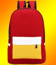 Fashion Designer Factory Wholesale Canvas Leather School Backpack