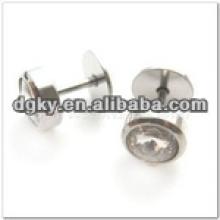 Round esmalte top cirúrgico aço anel de orelha piercing