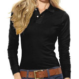 Women's Long-sleeved Polo Shirt, Available in Different Styles and ColorsNew