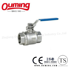 2PC Stainless Steel Lockable Ball Valve with Thread End