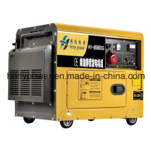 Generador diesel refrigerado por aire del solo tipo del cilindro silencioso