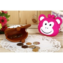 Stylish with Zip Silicone Coin Purse Silicone Coin Bag