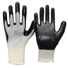 NMSAFETY al por mayor 13g nitrilo seguridad trabajo guante construcción trabajo safty guantes