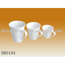 Factory direct wholesale 325cc 200cc 100cc white porcelain cup