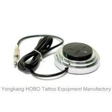 Interruptor de pie de la fuente de alimentación del tatuaje de la máquina del tatuaje del acero inoxidable con el cordón del clip