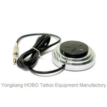 Interruptor de aço inoxidável do pé da fonte de alimentação da tatuagem da máquina do tatuagem com cabo do grampo
