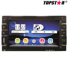 6.5inch doble DIN 2DIN reproductor de DVD de coche con sistema Wince Ts-2508-2