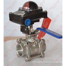 3pc thread ball valve mechanical valve position feedback limit switch box