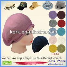 Sombrero hecho punto hecho punto de la gorrita tejida del sombrero del sombrero 100%, LSC14
