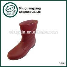 PVC rodilla Botas PVC lluvia hombres botas B-808 de botas de lluvia de hombre