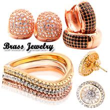 Мода 925 Серебряные ювелирные кольца и серьги / латунные украшения