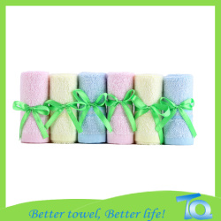 Gift Packing Bamboo Baby Washcloth Face Towel 10x10