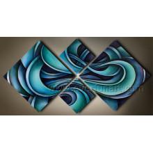 Peinture abstraite moderne à la main sur toile pour décoration à la maison (XD4-052)