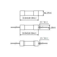 Fusible de tubo de cerámica 6 * 30 de alta resolución rápido RF1-32 (30) (H)