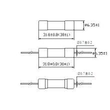 Fusível de tubo de cerâmica 6 * 30 RF1-32 de alta velocidade de ação rápida (30) (H)