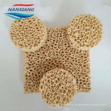 Filtro de espuma de cerâmica de zircônia para fundição de aço