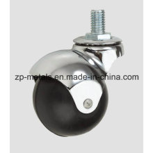 Rubber/PVC Screw Ball Caster Wheel