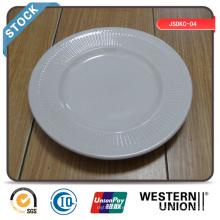 White Stoneware Plate/Stock Plate/Cheap Stoneware Plate