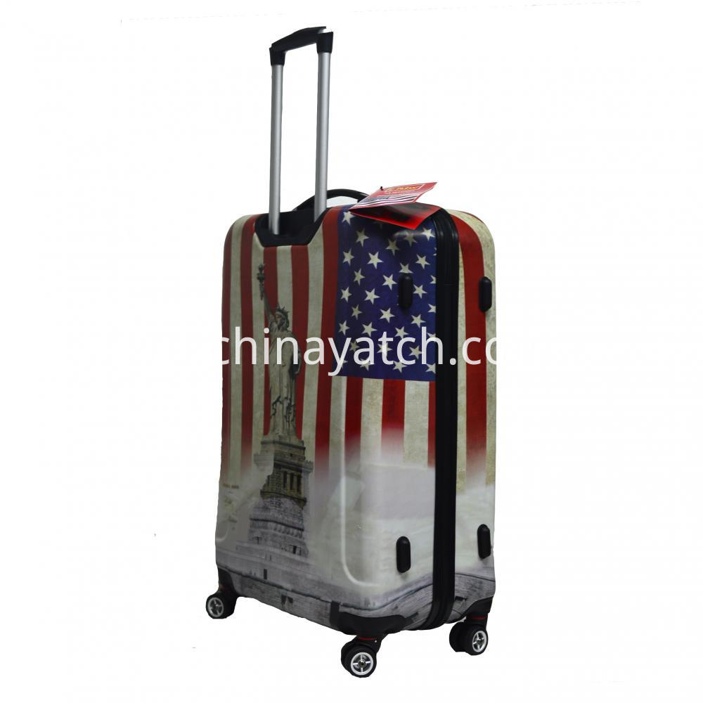 Hardshell luggage with printing