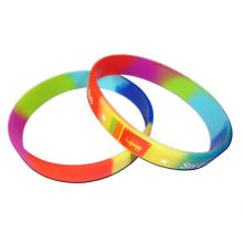 Customized Logo Color Changing Silicone Wristband