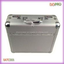 Prateado ABS superfície alça de alumínio combinação fechadura documento casos (satc005)