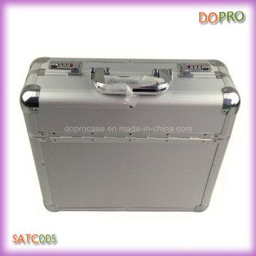 Plata ABS mango de superficie de aluminio combinación de documentos de bloqueo de documentos (satc005)