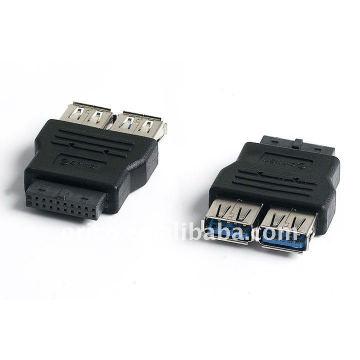 Placa principal 20pin a 2ports Convertidor de USB3.0 (adaptador)