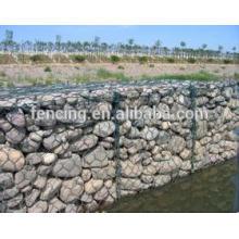 protección de la orilla del río jaula gavión / redes de piedra control de inundación