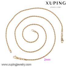63875 Xuping estilo simple joyería de moda conjuntos chapados en oro sin piedra
