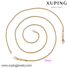 63875 Xuping estilo simples moda jóias banhados a ouro conjuntos sem pedra