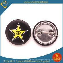 Crachá feito sob encomenda do botão da lata do metal com logotipo da estrela para o presente