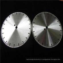 Vente chaude brasé diamant lame de coupe d'asphalte