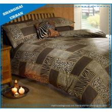 Animal Prints Patchwork Design Funda de edredón de poliéster Ropa de cama