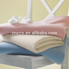 15BLT1013 couverture en cachemire gaufré luxe