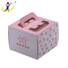 Kundenspezifische Form! Personalisierter Pappkuchen-Kasten, der mit Fenster und Griff verpackt