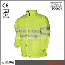 Hi Vis Waterproof Safety Jacket Rain Wear safety Clothing