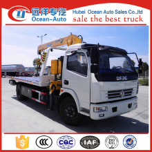 hot sellling DFAC DLK 3.2 ton wrecker truck with crane