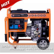 Generador diesel refrigerado por aire 10hp 186f 5kw