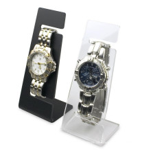 Uhr Einzelhandel Shop Günstige Counter Top Display Clear Or Black Acryl Single Herren Armbanduhr Stand