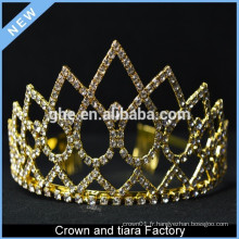 Cheap gold kings and queen crown à vendre